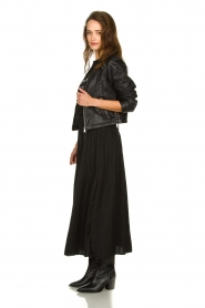 JC Sophie |  Folded maxi skirt Becky | zwart  | Picture 3