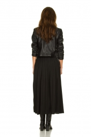 JC Sophie |  Folded maxi skirt Becky | zwart  | Picture 4