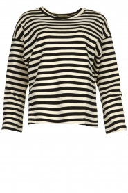 JC Sophie |  Striped sweater Blossem | black & white  | Picture 1