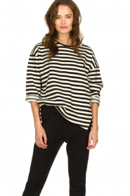 JC Sophie |  Striped sweater Blossem | black & white  | Picture 4