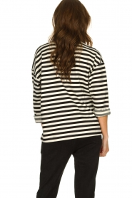 JC Sophie |  Striped sweater Blossem | black & white  | Picture 6