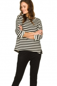 JC Sophie |  Striped sweater Blossem | black & white  | Picture 5