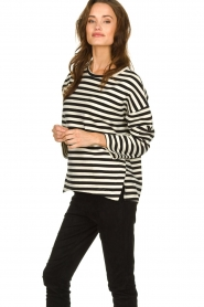JC Sophie |  Striped sweater Blossem | black & white  | Picture 2