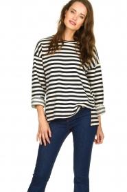 JC Sophie |  Striped sweater Blossem | blue  | Picture 2