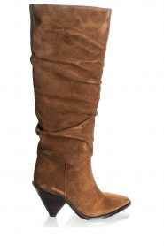 Toral | Suede boots Saar | camel  | Picture 1