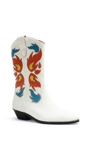 Catarina Martins |  Leather western boots Abba | white  | Picture 3