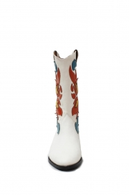 Catarina Martins |  Leather western boots Abba | white  | Picture 4