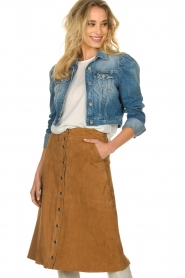 Kocca |  Short denim jacket Radig | blue  | Picture 2