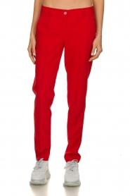 Kocca | Klassieke pantalon Lian | rood  | Afbeelding 1