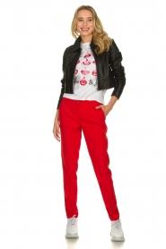 Kocca | Klassieke pantalon Lian | rood  | Afbeelding 2