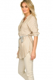 Kocca | Gestreepte blouse Paige | bruin   | Afbeelding 5