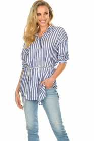 Kocca |  Striped Blouse Nelles | blue   | Picture 2