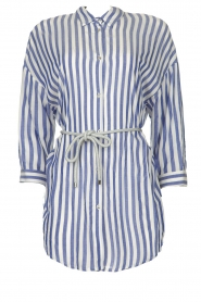 Kocca |  Striped Blouse Nelles | blue   | Picture 1