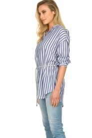 Kocca |  Striped Blouse Nelles | blue   | Picture 4
