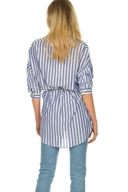 Kocca |  Striped Blouse Nelles | blue   | Picture 5
