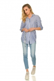 Kocca |  Striped Blouse Nelles | blue   | Picture 3