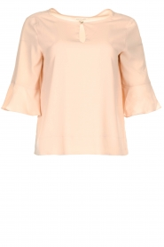 Kocca |  Top with elegant sleeves Plan | nude  | Picture 1