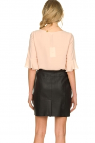 Kocca |  Top with elegant sleeves Plan | nude  | Picture 6