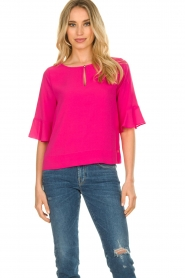 Kocca |  Top with elegant sleeves Plan | pink  | Picture 2