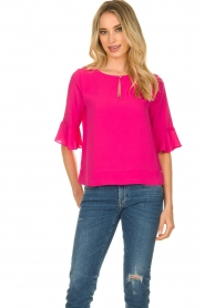 Kocca |  Top with elegant sleeves Plan | pink  | Picture 6