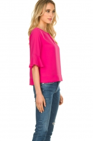 Kocca |  Top with elegant sleeves Plan | pink  | Picture 4