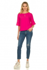 Kocca |  Top with elegant sleeves Plan | pink  | Picture 3