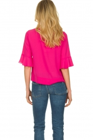 Kocca |  Top with elegant sleeves Plan | pink  | Picture 5