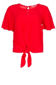 Kocca |  Top with button detail Vanis | red  | Picture 1