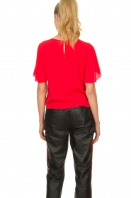 Kocca |  Top with button detail Vanis | red  | Picture 5