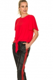 Kocca |  Top with button detail Vanis | red  | Picture 2