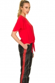 Kocca |  Top with button detail Vanis | red  | Picture 4