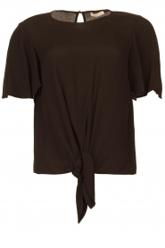 Kocca |  Top with button detail Vanis | black  | Picture 1