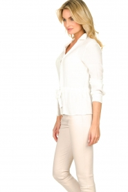 Kocca |  Blouse with drawstring Orlanda | white  | Picture 5