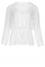 Kocca |  Blouse with drawstring Orlanda | white  | Picture 1