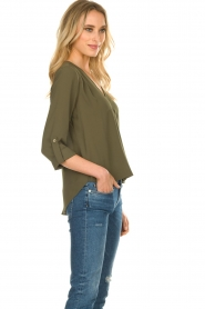 Kocca |  Wrap blouse | green  | Picture 4