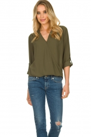 Kocca |  Wrap blouse | green  | Picture 6
