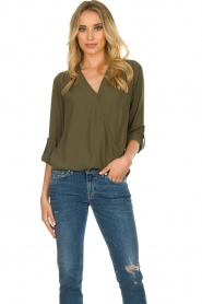 Kocca |  Wrap blouse | green  | Picture 2