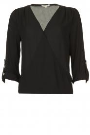Kocca |  Wrap blouse Guase | black   | Picture 1