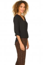 Kocca |  Wrap blouse Guase | black   | Picture 4