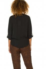 Kocca |  Wrap blouse Guase | black   | Picture 5