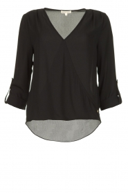 Kocca |  Wrap blouse Guase | black   | Picture 1