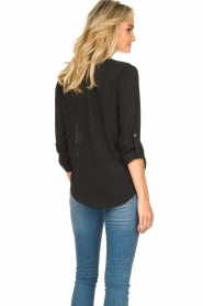 Kocca |  Wrap blouse Guase | black   | Picture 6