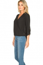 Kocca |  Wrap blouse Guase | black   | Picture 5