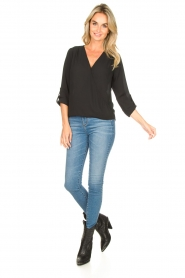 Kocca |  Wrap blouse Guase | black   | Picture 3