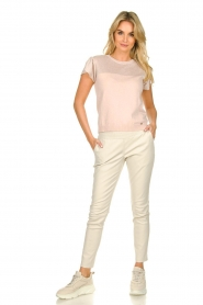 Kocca |  Fine knitted top with sparkles Fedro | light pink  | Picture 3