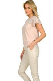 Kocca |  Fine knitted top with sparkles Fedro | light pink  | Picture 5