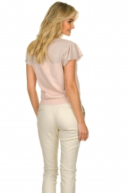 Kocca |  Fine knitted top with sparkles Fedro | light pink  | Picture 6