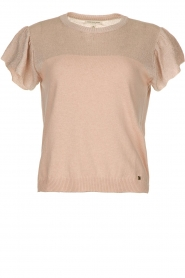 Kocca |  Fine knitted top with sparkles Fedro | light pink  | Picture 1