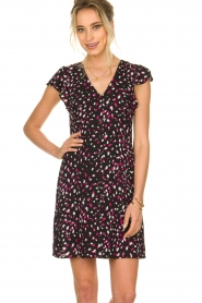Kocca |  Dress with dots Negasy | Black   | Picture 4