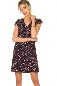 Kocca |  Dress with dots Negasy | Black   | Picture 2